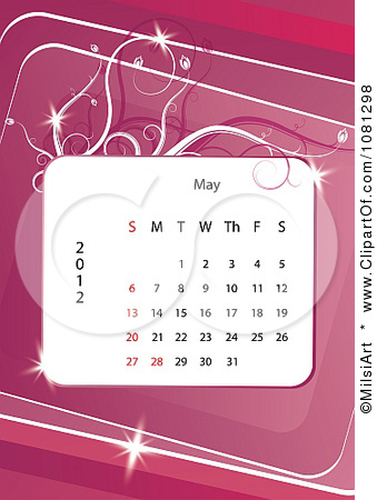 1081298-Clipart-May-2012-Calendar-Over-Pink-With-Vines-Royalty-Free-Vector-Illustration