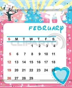 3090824-calendar-february-2012