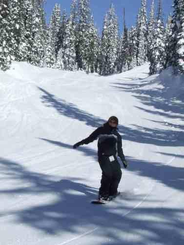 me snowboarding