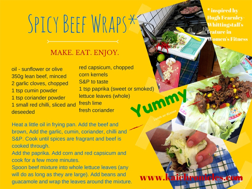 Spicy Beef Wraps