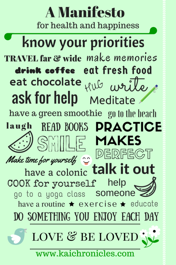 Manifesto for health and happiness